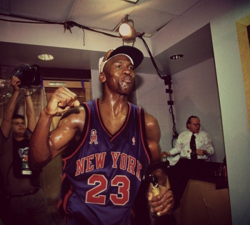 Ballislife | Michael Jordan in New York Knicks jersey