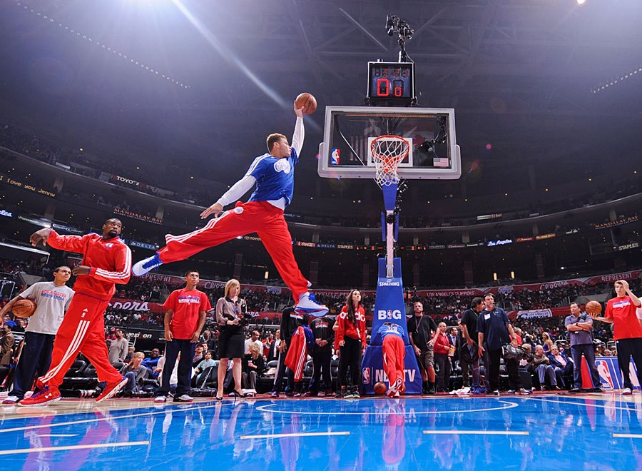 Blake Griffin Jumpman Pose During Clippers Warm Ups. SICK Photo!