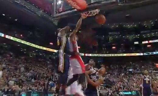 DeMar DeRozan HUGE Dunk on Al Jefferson In Overtime vs Jazz!