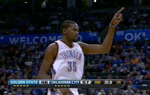 Kevin Durant's First Career Triple Double + Russell Westbrook NASTY Dunk On Steph!