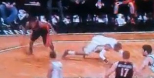 Kyle Lowry Drops CJ Watson On His Hands & Knees!