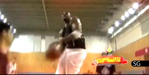 Tracy McGrady Can Still Elevate! Windmill Dunk In China!