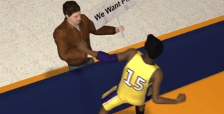 Crazy Asian Animation: Jerry Buss gets off the short bus to hire D'Antoni & coach Lakers w/ walkers