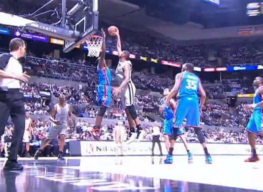 Tim Duncan Posterizes Serge Ibaka! Dunk of the Night