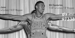 Wingspan Comparisons with Dwight Howard, Anthony Davis, LeBron, MJ & Wilt Champerlain