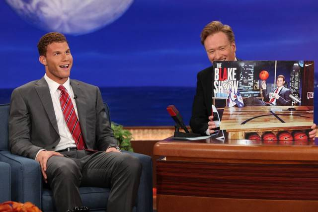 Blake Griffin on Late Night Show Conan talks about the Blake Face