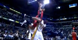 Jonas Valanciunas Dunks ALL OVER Paul George