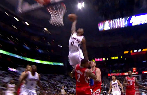Jeff Teague Insane Dunk On Marcus Morris But Gets Called For A