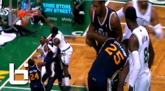 Must See: Jeff Green POSTERIZES Al Jefferson Then Stares Him Down!