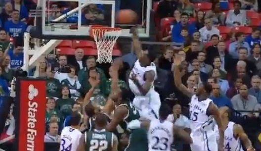 Jamari Traylor MONSTER Putback Dunk vs. Michigan State!!