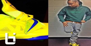 Wale Rocking The Yellow KD IV'S