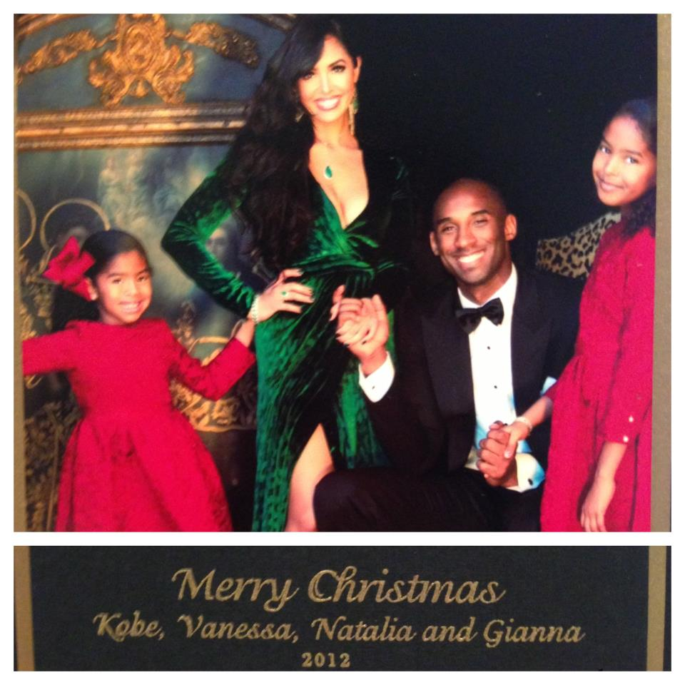 happy holidays card from kobe bryant and the fam kobe s best