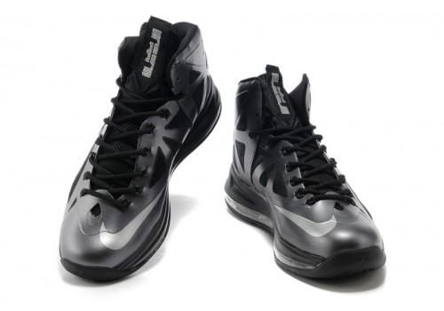 541100-001 Nike LeBron X Black Diamond Metallic Silver Anthracite_b-500x500
