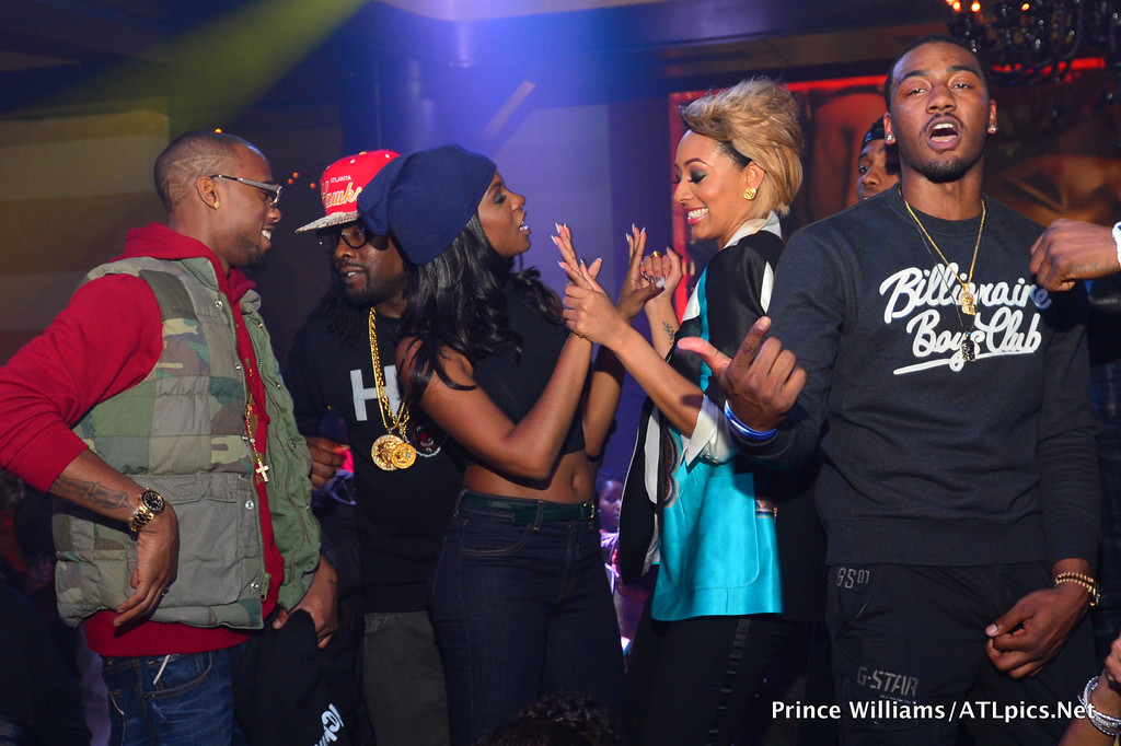 John Wall celebrating with Wale  amp  B O B at Serge Ibaka   s girlfriend    John Wall Girlfriend 2012