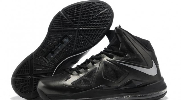 Nike Lebron X 10 Carbon Black Diamond Metallic Silver Anthracite