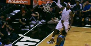 Roger Mason Low Blow defense doesn't stop LeBron nasty 1hand oop