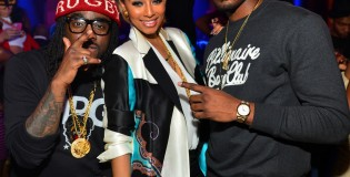 Pics: John Wall celebrating with Wale & B.O.B at Serge Ibaka's girlfriend, Keri Hilson, birthday party