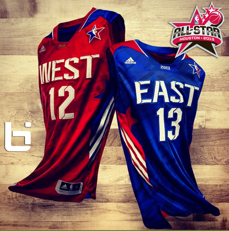 The NBA unveiled the 2013 All-Star jerseys that Kobe, LeBron, Durant