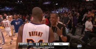 Kobe & Jay-Z after the Lakers & Thunder game