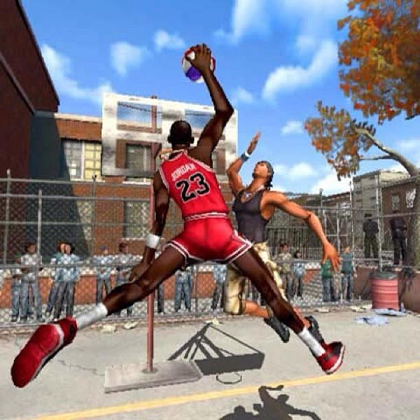 Remember this? Micheal Jordan in NBA Street Video Games