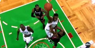 Jeff Green MONSTER Dunk ALL OVER Chris Bosh!