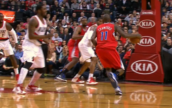 Wesley Matthews gets mad after getting crossed up by Jamal Crawford