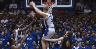 Refs give Duke's Mason Plumlee a tech after his crazy reverse rebound dunk