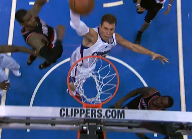 Blake Griffin 2 nasty dunks and 9 more assists in place of CP3 against the Blazers