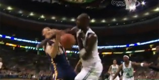 Kevin Garnett ejected for psycho foul on Psycho T! Intentional?