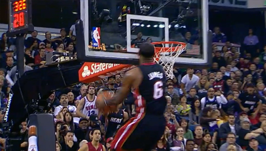 Hc84 Dwyane Wade Dunk Nba Flash Sports: Wade Alley-oop To LeBron For The Head At The Rim Reverse Dunk