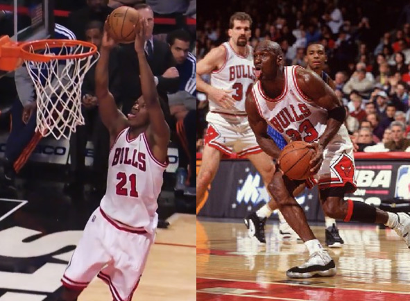 Bull's Jimmy Butler imitates MJ & has career game after having a dunk contest with Brian Scalabrine