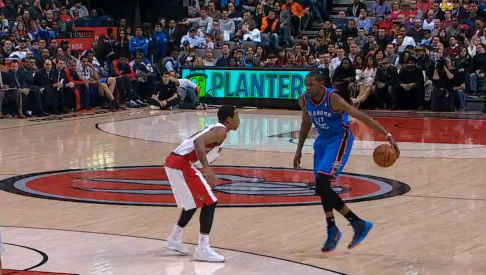 75622ed34a4 Kevin Durant double crossover on DeMar DeRozan – Multiple Angles ...