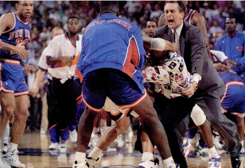 The 1993 Suns/Knicks Brawl that made the NBA rewrite all the rules on fighting. 21 players fined!
