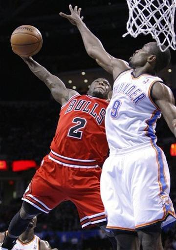 Nate Robinson sick dunk attempt on Serge Ibaka