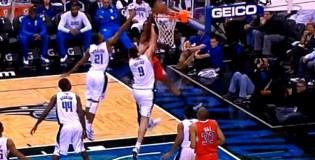 DeAndre Jordan Dunks on Nikola Vucevic TWICE!