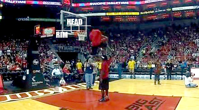 293aafee570 6 4 Justin Darlington Gets His HEAD OVER The Rim While Jumping OVER ...