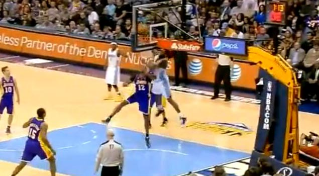 Kenneth Faried Catches The Nasty Alley-Oop Over Dwight Howard!!! #Manimal
