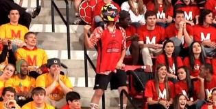 Maryland Students Awesome Flash Mob and Harlem Shake During Game!