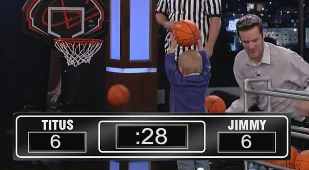 Amazing 2 Year Old Beats Jimmy Kimmel In Basketball Shoot Out!