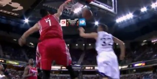 Jeremy Lin blocks shot, splits D and then dunks over Francisco Garcia