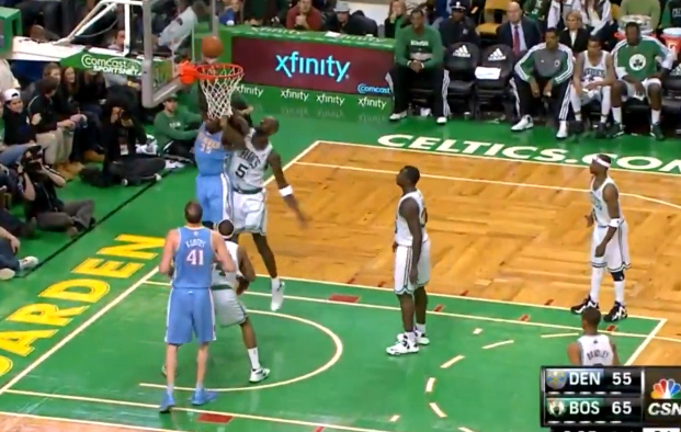"Kevin Garnett blocks Faried and yells ""s**t outta here n****"""