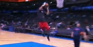 Derrick Rose DUNKS before the Bulls vs Thunder | Rose&#8217;s Top 5 Dunks