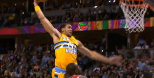 Javale McGee's dunk exhibition against the Bulls after not getting a dunk contest invite