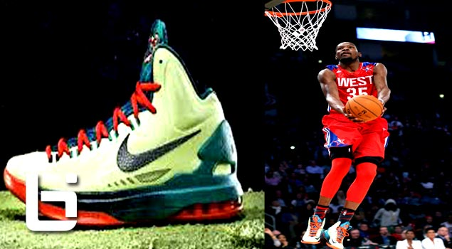 Kevin Durant Rocks His All Star KD V's +Nice Dunk From Cp3