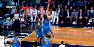 Brook Lopez NASTY Dunk On his Twin Brother Robin Lopez!