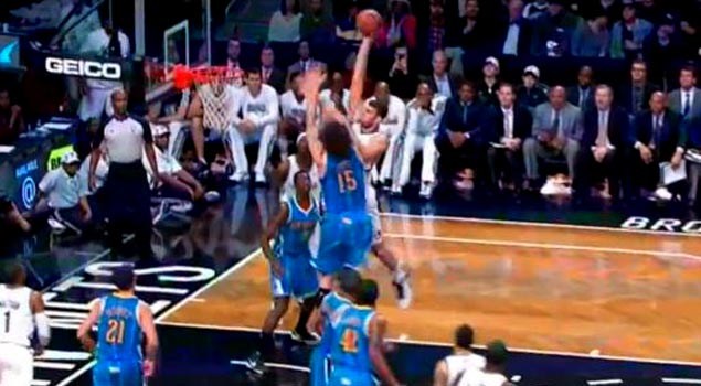 Ballislife | Brook Lopez Dunk on Brother
