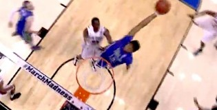 Florida Gulf Coast's Eric McKnight CRAZY Reachback Alley-Oop Dunk vs San Diego State!