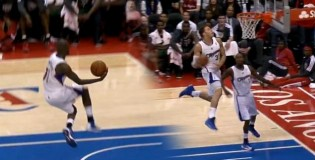 Jamal Crawford Amazing BETWEEN The Legs Oop To Blake For The Windmill!! TOO SICK!