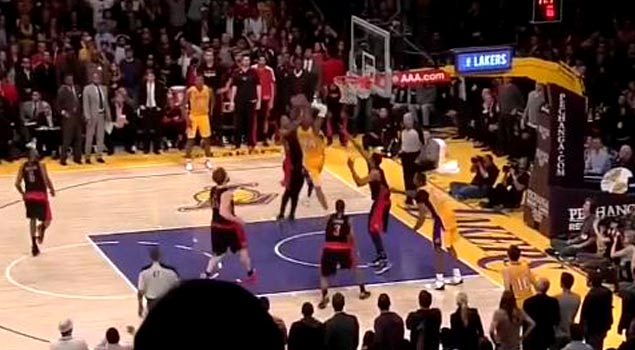 Kobe Bryant's Game Sealing Dunk In OT By Two Raptors