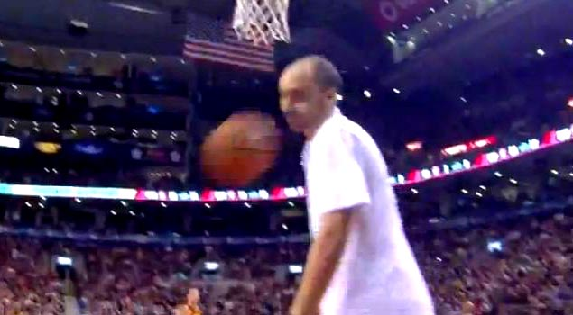 Ballislife | Landry Fields Hits Ball Boy in Face with Buzzer Beater Attempt